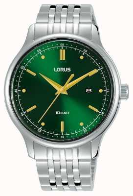 Lorus Hommes | cadran vert soleil | bracelet en acier inoxydable RH907NX9