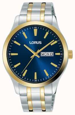 Lorus Hommes | cadran bleu | bracelet en acier inoxydable bicolore RH342AX9