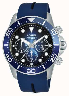 Lorus Hommes | chronographe | cadran bleu | bracelet en silicone bleu RT349JX9