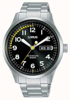 Lorus Hommes | automatique | cadran noir | bracelet en acier inoxydable RL457AX9