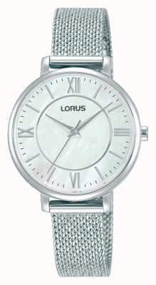 Lorus Femmes | cadran blanc | bracelet en maille d'acier inoxydable RG221TX9