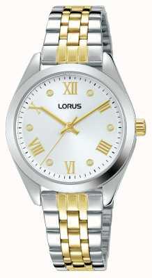 Lorus Femmes | cadran argenté | bracelet en acier inoxydable bicolore RG253SX9