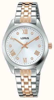Lorus Femmes | cadran argenté | bracelet en acier inoxydable bicolore RG255SX9