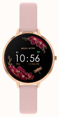 Reflex Active Montre intelligente série 3 | bracelet rose nude RA03-2038