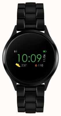 Reflex Active Montre intelligente série 4 | écran tactile couleur | bracelet en acier ip noir RA04-3000