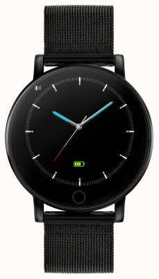 Reflex Active Montre intelligente série 5 | moniteur hr | écran tactile couleur | maille en acier ip noir RA05-4024