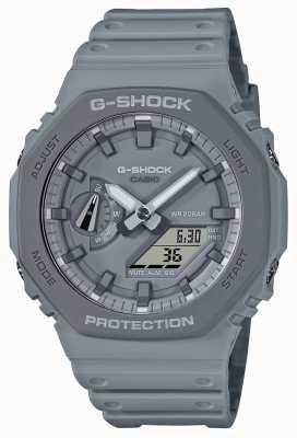 Casioak | bracelet en résine grise | cadran gris GA-2110ET-8AER