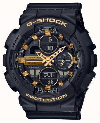 Casio Sports unisexes | g-shock | bracelet en résine noire | dal noir | GMA-S140M-1AER