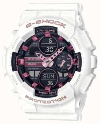 Casio G-shock | sports unisexes | bracelet en résine blanche | cadran noir GMA-S140M-7AER