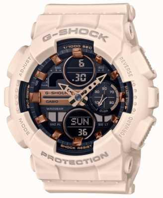 Casio G-shock | sports unisexes | bracelet en résine rose pâle | cadran noir GMA-S140M-4AER