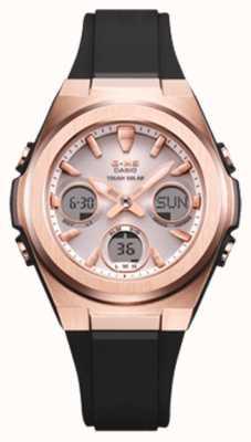 Casio G-shock | msg-rose-or ip | bracelet en résine noire | MSG-S600G-1AER
