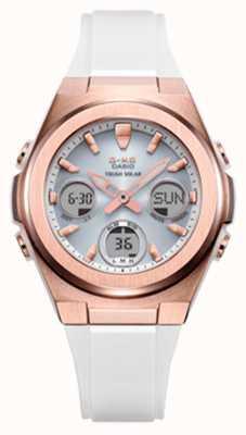 Casio G-shock | msg-rose-or ip | bracelet en résine blanche MSG-S600G-7AER