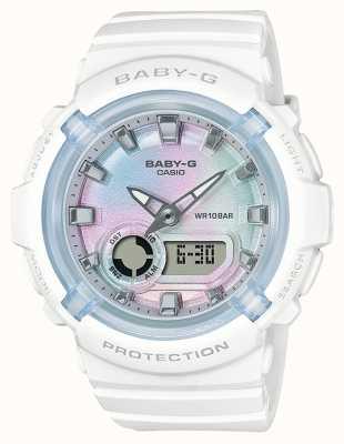 Casio Baby-g | bracelet en résine blanche | cadran multicolore BGA-280-7AER