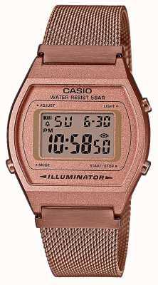 Casio Vintage | numérique | bracelet en maille pvd or rose B640WMR-5AEF
