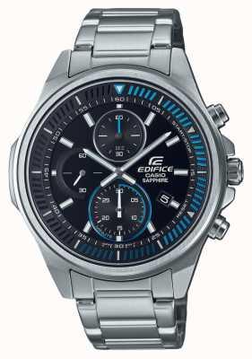 Casio Edifice-collection classique | bracelet en acier inoxydable | cadran noir EFR-S572D-1AVUEF