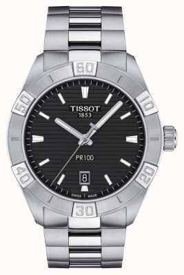 Tissot Pr100 sport | cadran noir | bracelet en acier inoxydable T1016101105100
