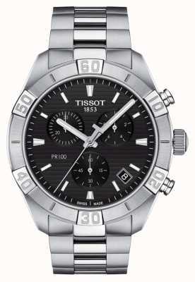 Tissot Pr100 sport | chronographe | cadran noir | bracelet en acier inoxydable T1016171105100