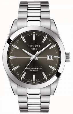 Tissot Gentleman auto   powermatic 80   bracelet en acier inoxydable   cadran anthracite T1274071106101