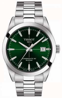 Tissot   messieurs automatique   powermatic 80   bracelet en acier inoxydable   cadran vert   T1274071109101