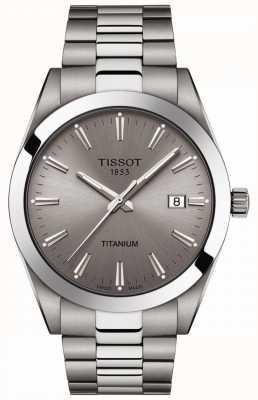 Tissot Messieurs titane   bracelet argent / titane gris   cadran gris T1274104408100