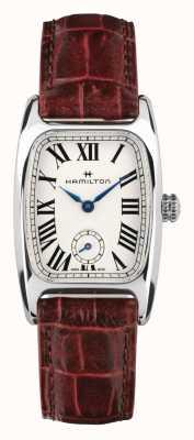 Hamilton Boulton | cadran blanc | bracelet en cuir marron H13321811