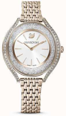 Swarovski Aura cristalline | bracelet en acier inoxydable or pour femme | cadran blanc 5519456
