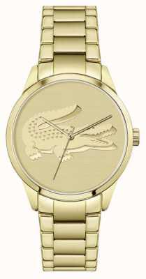 Lacoste Ladycroc | bracelet plaqué or | cadran en or 2001175