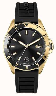 Lacoste Tiebreaker | bracelet en caoutchouc noir | cadran noir 2011126
