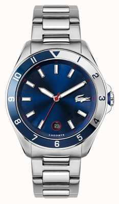 Lacoste Tiebreaker | bracelet en acier inoxydable | cadran bleu 2011127