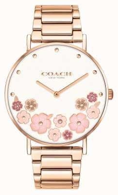 Coach Perry | bracelet en acier or rose pour femme | cadran floral 14503768