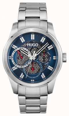HUGO #skeleton | bracelet en acier inoxydable pour homme | cadran bleu 1530191