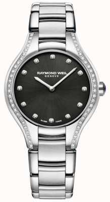 Raymond Weil Noemia | bracelet en acier inoxydable pour femme | cadran en diamant 5132-STS-20081
