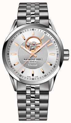 Raymond Weil Freelancer | bracelet en acier inoxydable pour homme | cadran argenté 2710-ST5-65021