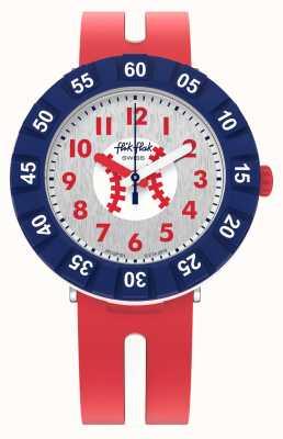 Flik Flak Accueil | bracelet en silicone rouge | cadran blanc FCSP101