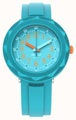 Flik Flak Aqualicious | bracelet en silicone bleu aqua | cadran aqua FCSP100