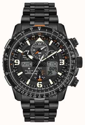 Citizen Skyhawk chez | bracelet en acier ip noir pour homme | cadran noir JY8075-51E
