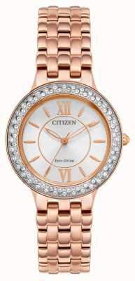 Citizen Bracelet femme éco-drive en or rose FE2088-54A