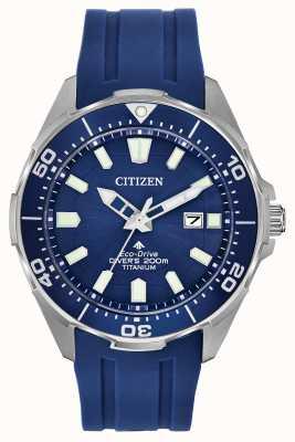 Citizen Homme Eco-Drive Promaster Blue Silicone BN0201-02M