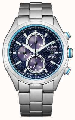 Citizen Bracelet Eco-Drive pour homme WR100 CA0430-54M