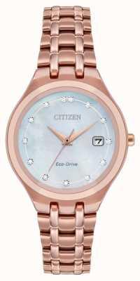 Citizen Cadran diamant Eco-Drive pour femme EW2489-54D