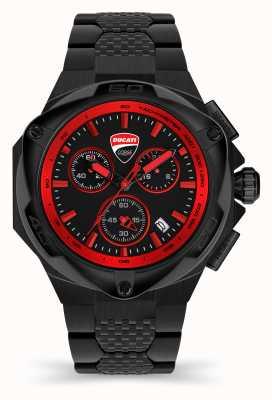 Ducati Dt002 | chronographe | cadran noir | bracelet en acier pvd noir DU0065-ECHB.B01