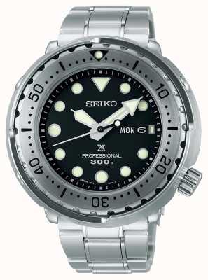 Seiko Prospex | thon | 300m | bracelet en acier inoxydable | cadran noir S23633J1