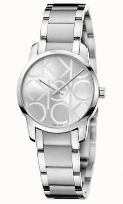 Calvin Klein Ville | bracelet en acier inoxydable pour femme | cadran argenté K2G23142
