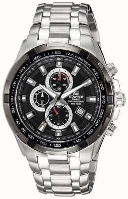 Casio Chronographe à cadran noir en acier inoxydable pour homme EF-539D-1AVEF