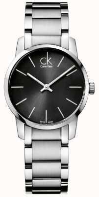 Calvin Klein Boîtier en acier inoxydable femme City K2G23161