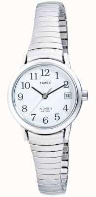 Montre dame Timex, acier inoxydable extensible T2H371,